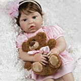 Paradise Galleries Reborn Baby Doll Like Real Life ToddlerBaby Doll, Pretty In Pink, Girl Doll Crafted in Silicone-Like Vinyl and Weighted Body, 20 inch