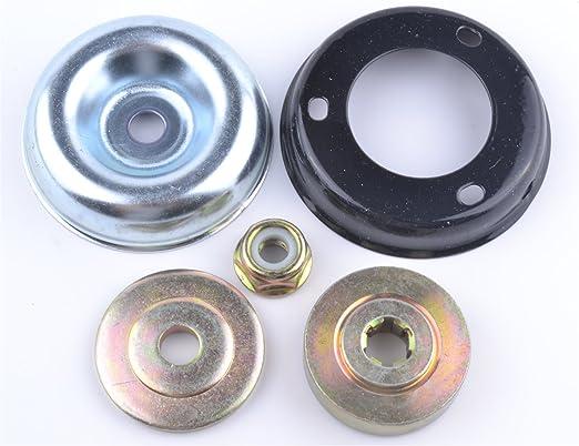Hoja de metal de repuesto para cortacésped desbrozadora Engranaje tuerca Kit de fijación: Amazon.es: Hogar