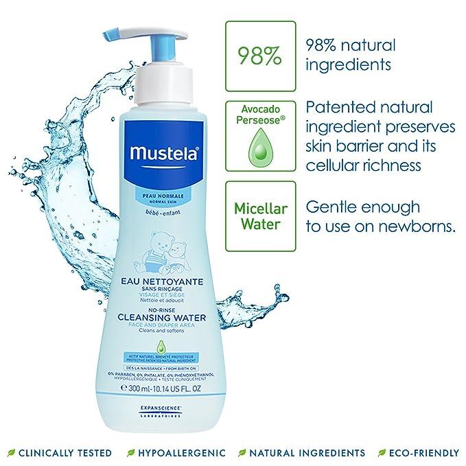 Mustela Agua Limpiadora sin aclarado 300ML: Amazon.es: Salud y cuidado personal