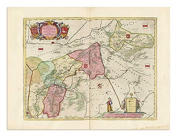 Emsland Karte.The Blaeu Prints Emsland Niedersachsen Historischer Kartendruck