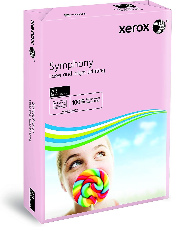 Carta colorata Symphony per stampante a colori e a getto dinchiostro e fotocopiatrice formato DIN A3 colore rosa pastello 500 fogli 80 g//m/² Xerox 003R92261