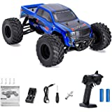 Crenova 1/12 4WD Electric RC Car Monster Truck RTR with 2.4GHz Radio Remote Control/Crazy Speed 30MPH/2 Sets of Rechargeable Batteries Best RC Buggy for On-road and Off-road Racing Rock Crawling