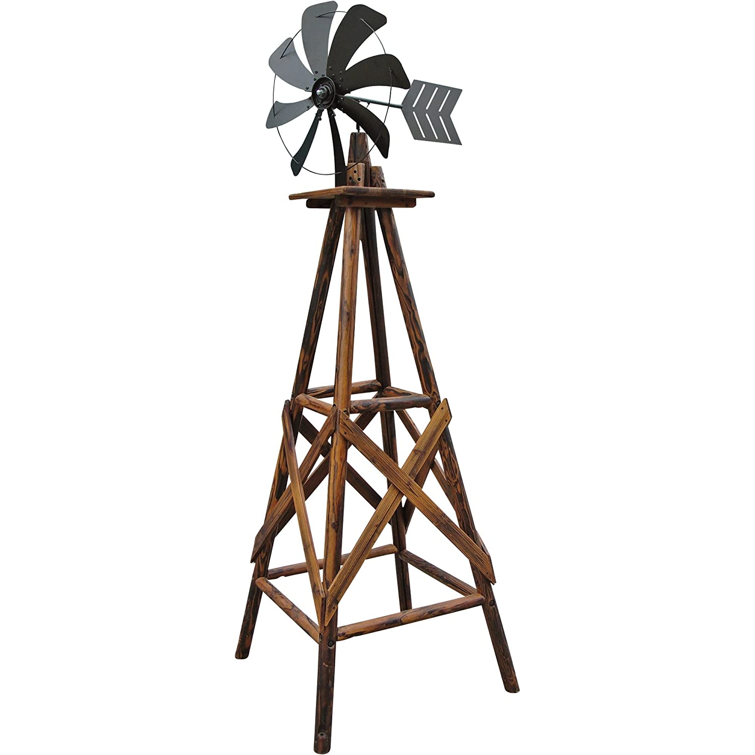amazon com 9ft char log windmill welcomes the inspiration of the