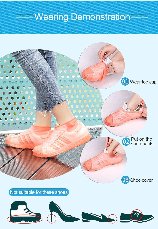 antid/érapant Tekman Couvre-chaussures de pluie r/éutilisables en silicone imperm/éable ext/érieur pour enfants femmes hommes