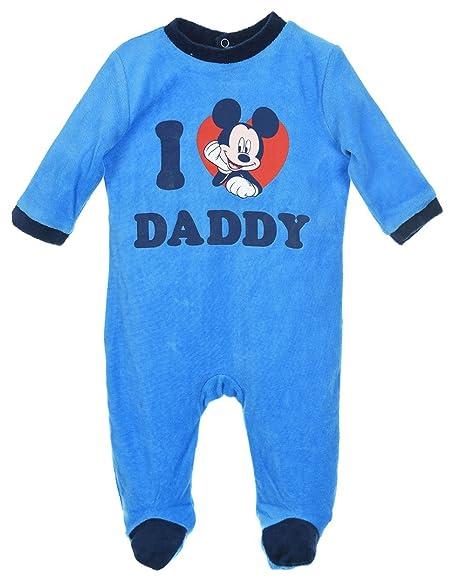 """Pijama para bebé, diseño de Mickey Mouse con texto en inglés """"I love"""