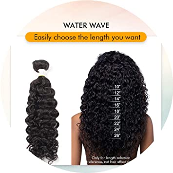 Amazon com : Indian water wave bundles with closure 28inch