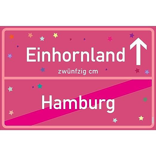 vanva Cartel de Unicornio Hamburgo Rosa Unicornio de Pared ...