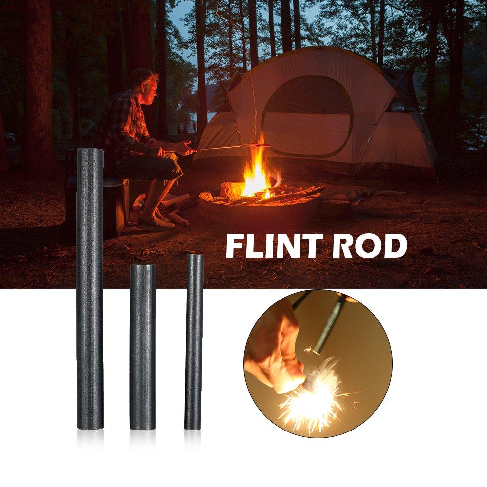 Lixada Firesteel Picapiedra Fuego Varilla de Acero Fuego Arranque Herramienta Magnesio Fuego Rod: Amazon.es: Deportes y aire libre
