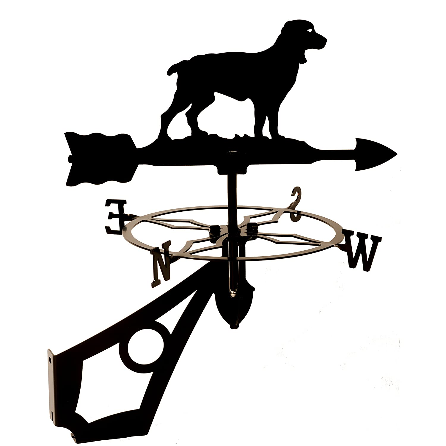 Dragon Laser Ltd. W160BLK Springer Spaniel, Dog Weathervane