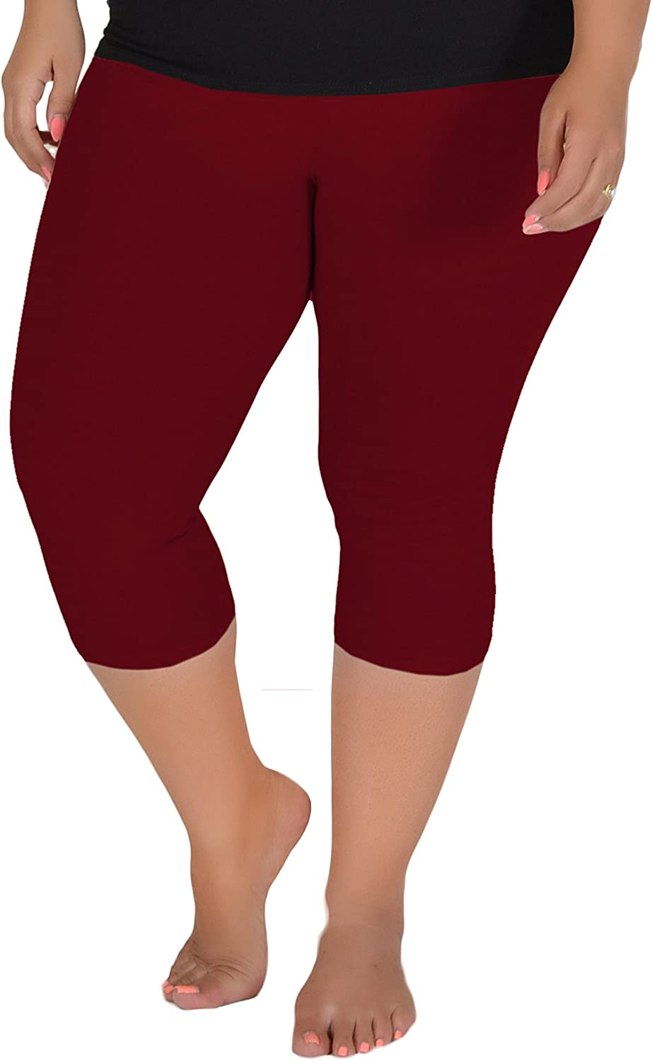 Stretch is Comfort Womens Plus Size Knee Length Leggings