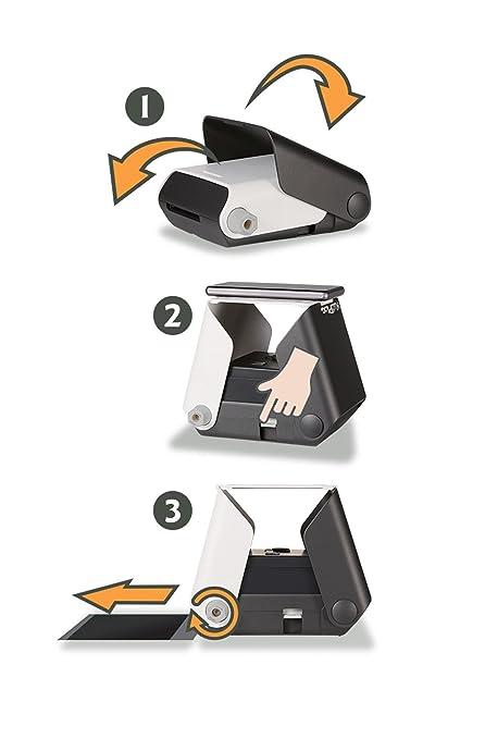 Impresora fotográfica KiiPix | compatible con Smartphone | Impresora fotográfica instantánea | con paquete de iniciación Fujifilm Instax Mini (idioma ...