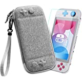 Mostof Carrying Case with Screen Protector for Nintendo Switch Lite, Protective Portable Case Travel Storage Hard Shell with HD Tempered Screen Protector Kit