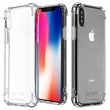 premium selection b6bde df622 iPhone XS Case, iPhone X Case, Jenuos Silicon TPU Clear Shockproof Case  Cover for iPhone XS / iPhone X 5.8