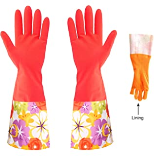 Kitchen Cleaning Gloves, Latex Dishwashing Waterproof Gloves, Heated  Gardening Rubber Gloves