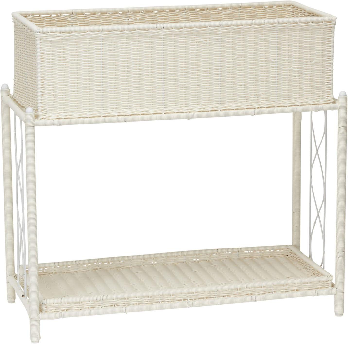 Household Essentials ML-5017 Indoor Outdoor Resin Wicker Planter Stand, 2 Piece