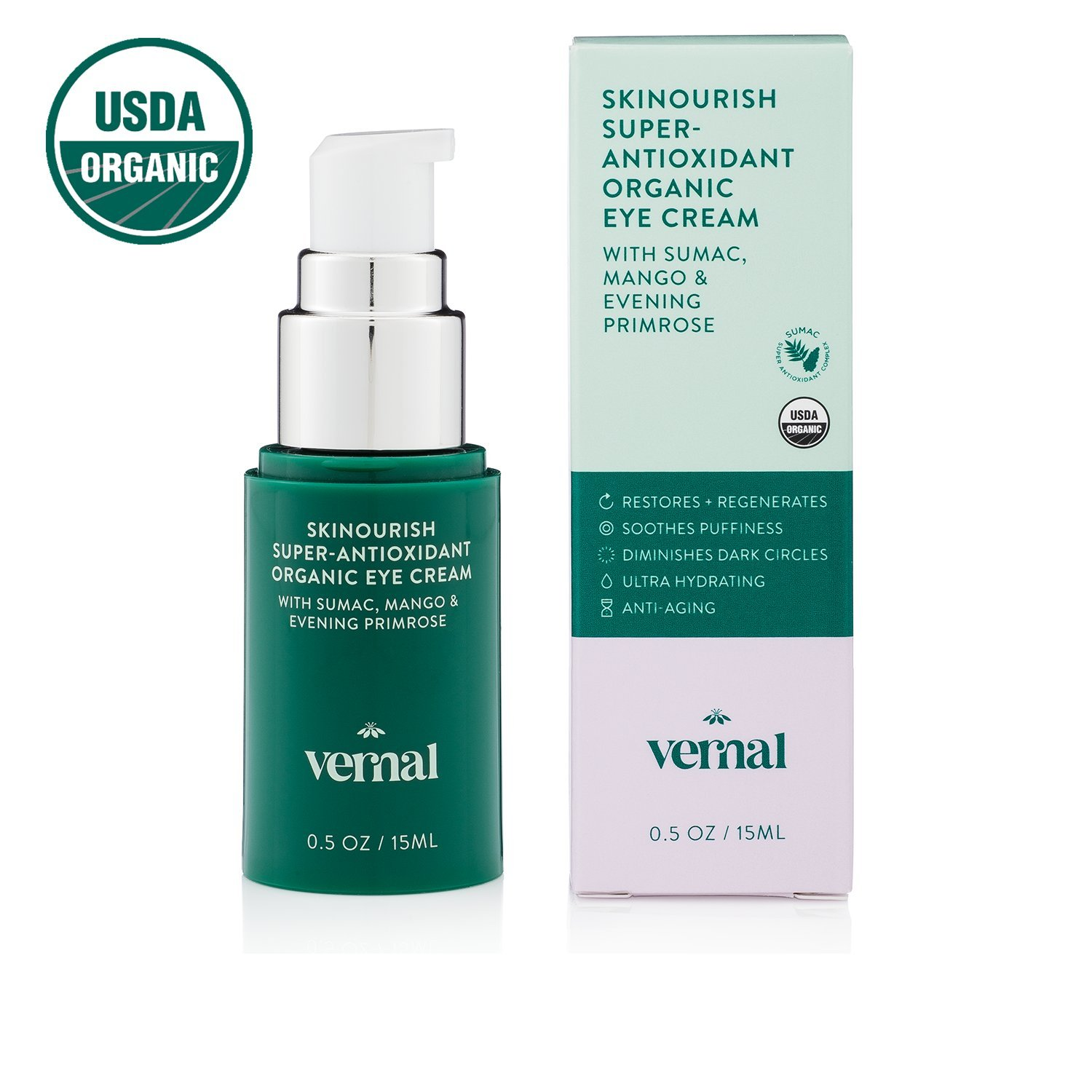 5. Vernal SKINourish Super Antioxidant Organic Eye Cream