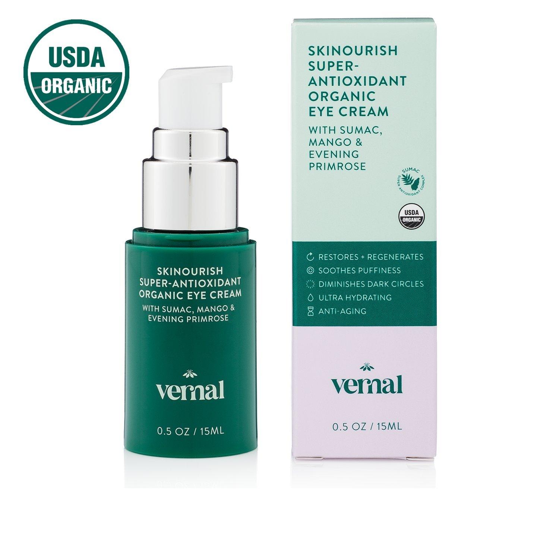 Vernal SKINourish  Super Antioxidants Organic Eye Cream for Puffiness, Wrinkles, Dark Circles With Organic...
