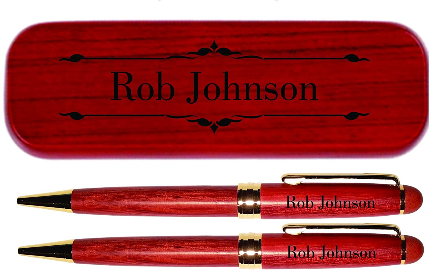 Pencil Custom Engraved Rosewood Stationery Personalised Wooden Pen