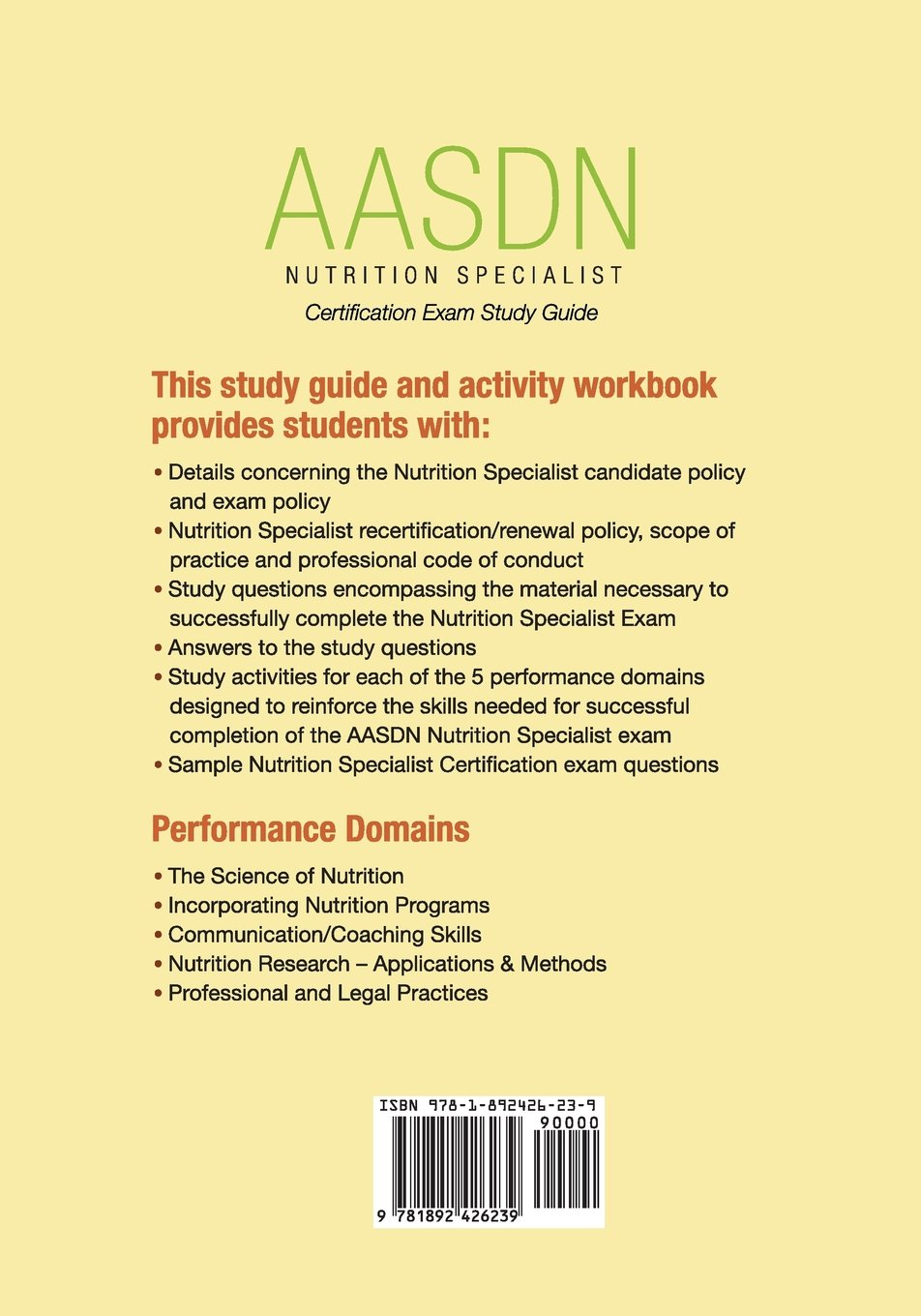 Buy Nutrition Specialist Certification Exam Study Guide Book Online