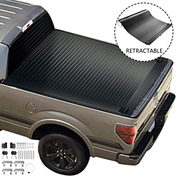 Amazon Com Vevor Truck Bed Cover For 2010 2020 Ford F 150 Tonneau Cover Fits 5 5ft Bed Truck Topper Hard Cover Pickup Truck Bed Accessories Retractable Auto Truck Bed Tonneau Cover With Water Drain Tubes