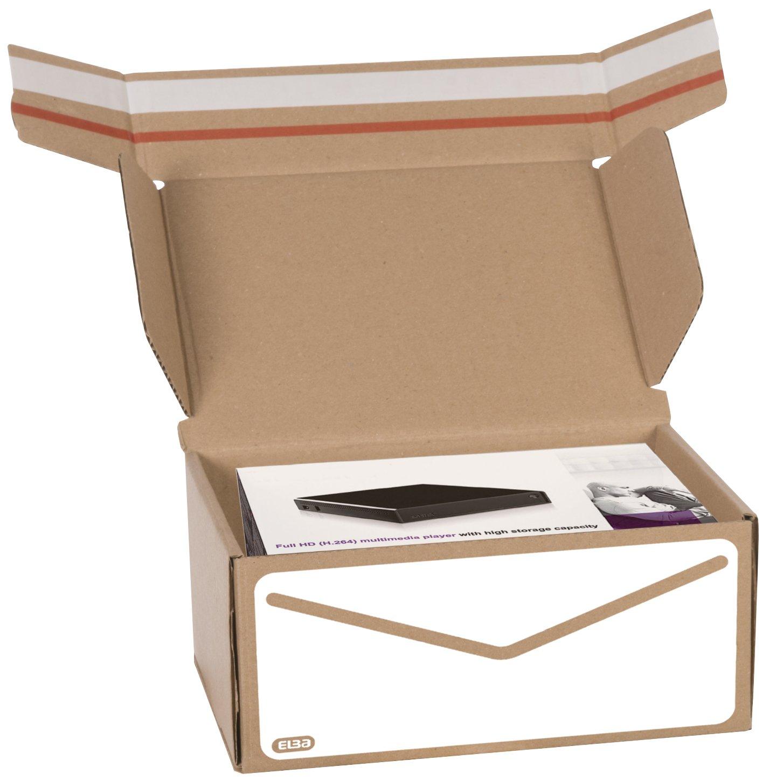 Elba 400079249 Scatola per Spedizione Formato Interno 23X16.5X10 cm Colore Marrone e Bianco Hamelin Brands