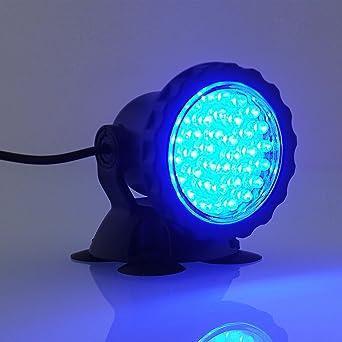 Pêche D'aquarium Pour Pond Spotlight Ampoule 36 Garden Amzdeal® Spot Éclairage Piscine Led Submersible Étanche Lampe xBeWdCro