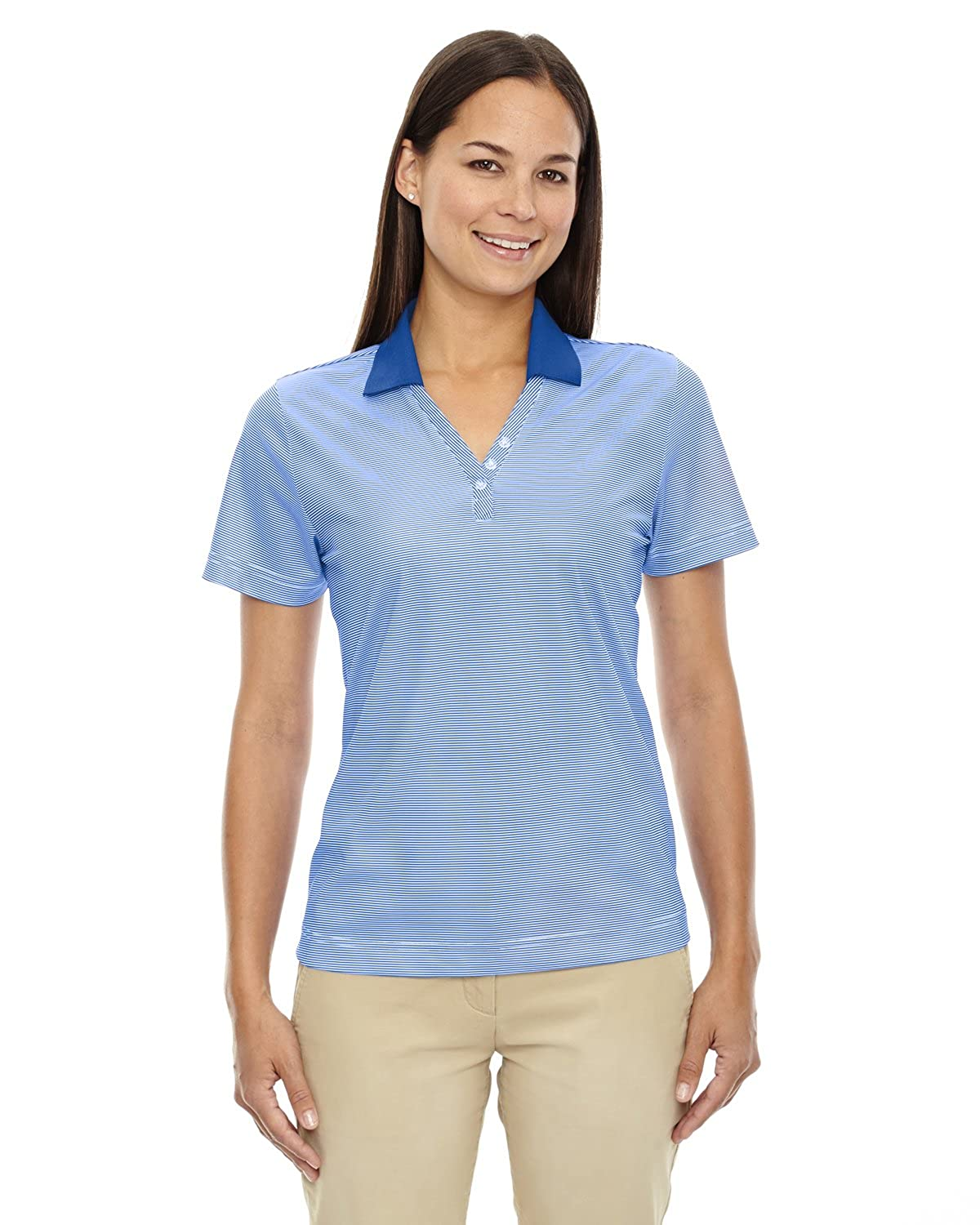 Extreme Eperformance Ladies Launch Striped Polo Shirt