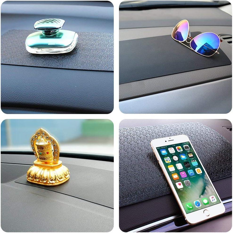 Universal Anti Slip Dashboard Pad Premium Non-Slip Mats Sticky Anti-Slip GEL Pads Non-Slip Car Dash Sticky Mats Anti-Slip Car Dash Sticky Gel Pad Anti Slip Car Dashboard Pads for Cell Phones,Keys