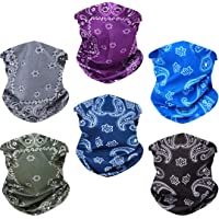 Toes Home 6PCS Outdoor Magic Headband Elastic Seamless Bandana Scarf UV Resistence Sport Headwear Boho Series for Yoga…
