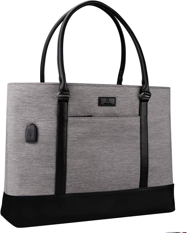 Laptop Tote Bag, Women Teacher Bag Large Work Bag Purse Fits 15.6 in Laptop