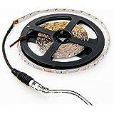 HitLights Warm White LED Light Strip, 3528-16.4 Feet, 300 LEDs, 3000K, 72 Lumens per Foot. 12V DC