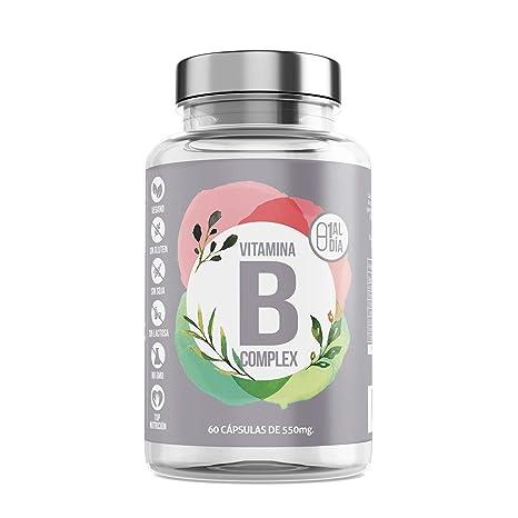 Vitamina B + Complejo Vitamínico con Minerales y Vitaminas B6 y B12 + Reduce El Cansancio + Refuerza Tus Defensas + Energía (60 Cápsulas) 100% ...