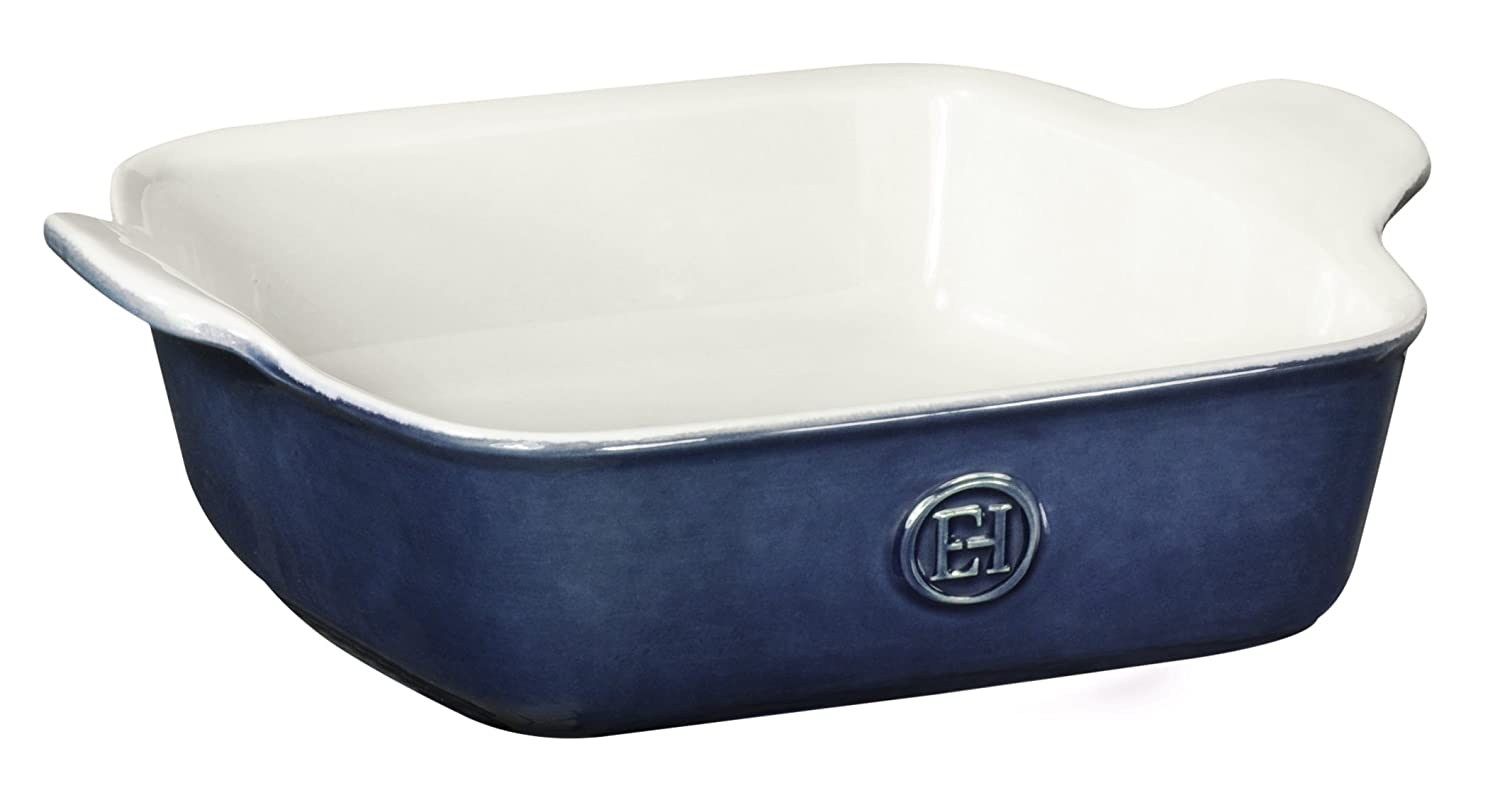 "Emile Henry Made In France HR Modern Classics Square Baking Dish 8 x 8"" / 2 Qt, Blue"