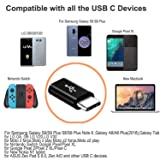 MOMIKA USB Type C Adapter,4 Pack,USB C to Micro USB Adapter Connector USB C Adapter Fast Charging for Samsung Galaxy S9 S8 Plus Note 8 Note 9,MacBook, LG V30 G5 G6, Moto Z2 Play Nexus More Black