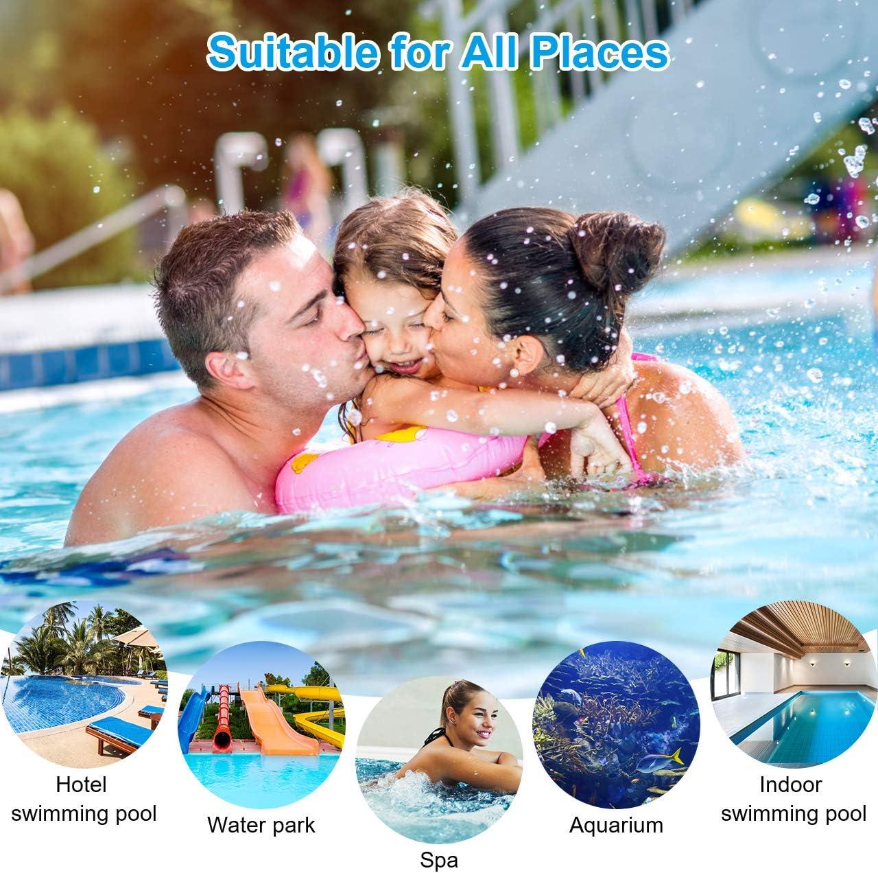 Bearbro Pool Skimmer Net Leaf Skimmer Fine Mesh Net Skimmer Swimming Pool Pond Net with Hot Tub Cleaning Gloves
