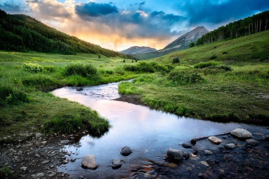 Crested Butte Colorado Rocky Mountains Landscape Photo Cool Wall Decor Art Print Poster 36x24