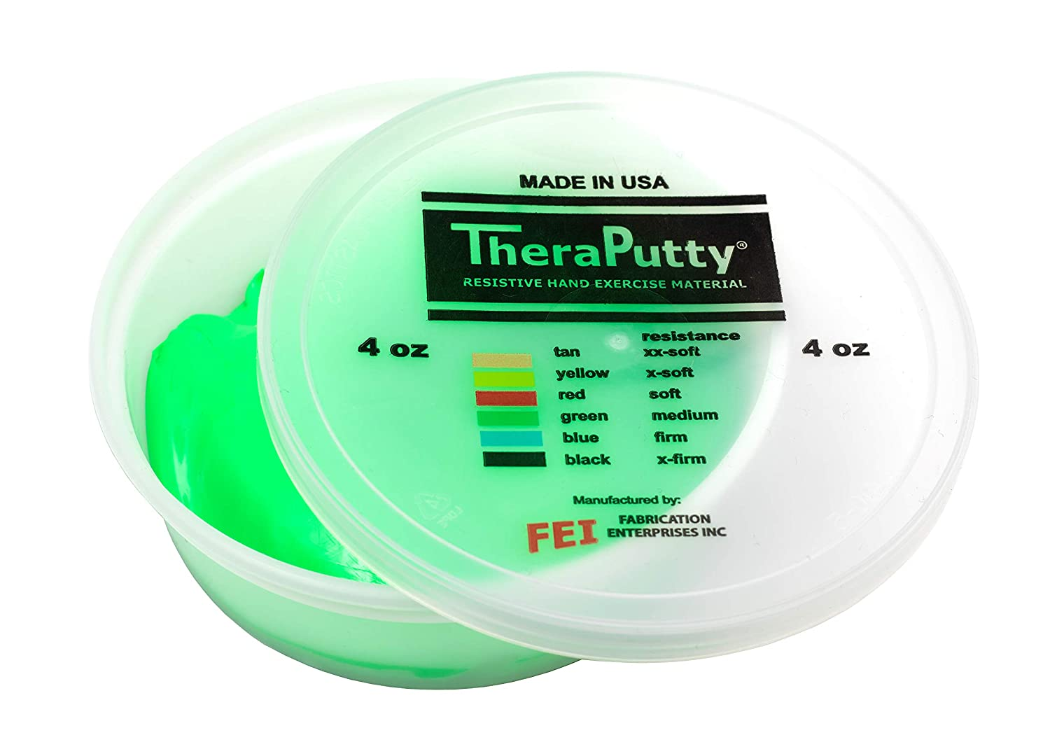 CanDo TheraPutty Standard Exercise Putty, Green: Medium, 4 oz: Industrial & Scientific