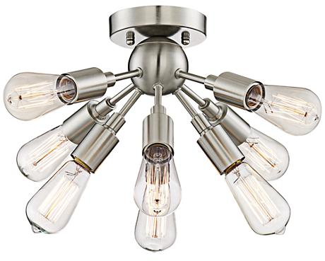 "Hemingson 20 3/4""W 8-Light Satin Nickel Ceiling Light - #8Y695 