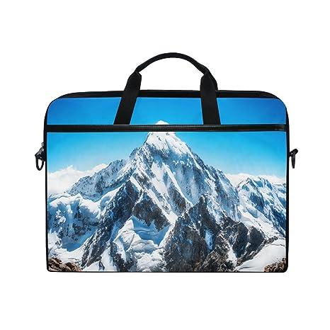 JSTEL Mountain Peak Everest - Bolso bandolera para portátil de 14 a 15,6 pulgadas