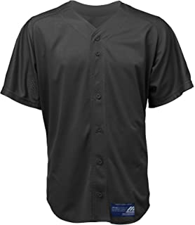 Mizuno Mens Full Button Mesh Short Sleeve Baseball Jersey