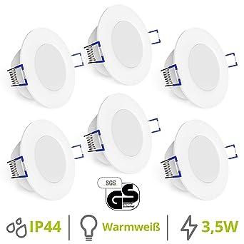 Gut bekannt linovum® WEEVO 6er Set IP44 Einbaustrahler LED 230V rund - runde EZ68