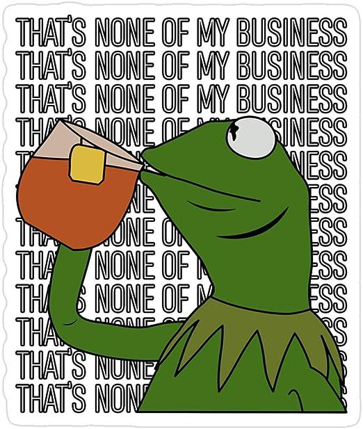 Amazon Com Jess Sha Store 3 Pcs Stickers Kermit Sipping Tea Meme