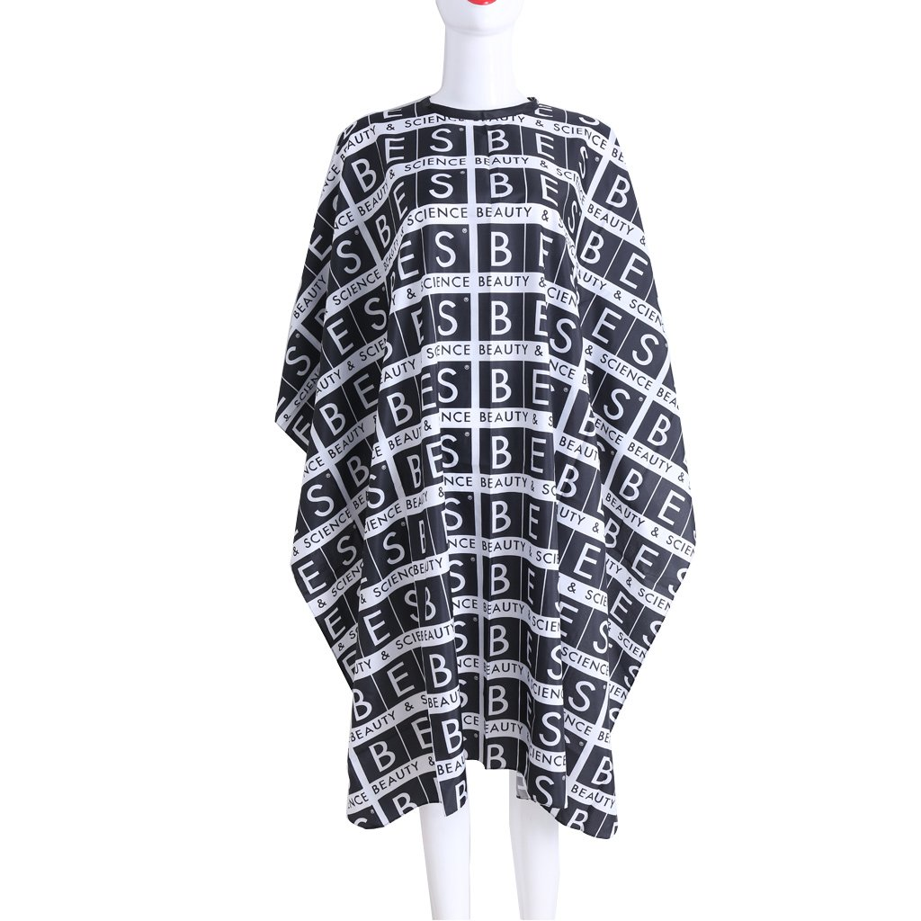 Niceskin Letters Printing Hair Cutting Gown Cape Hairdresser Cape Cloth, Synthetic Fiber and Nylon