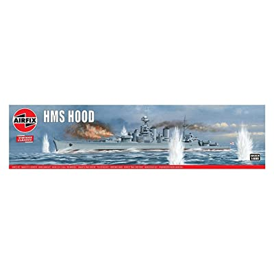 Airfix HMS Hood 1:600 Vintage Classics Military Naval Ship Plastic Model Kit A04202V: Toys & Games
