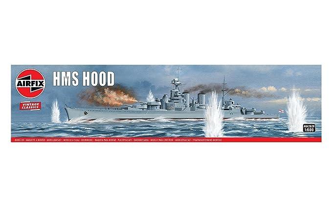 Amazon.com: Airfix HMS Hood 1:600 Vintage Classics Military ...
