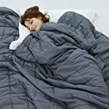 Weighted Idea Weighted Blanket 15 lbs Queen Size 60''x80'' for 130-170lbs Adult Women and Men (Grey)