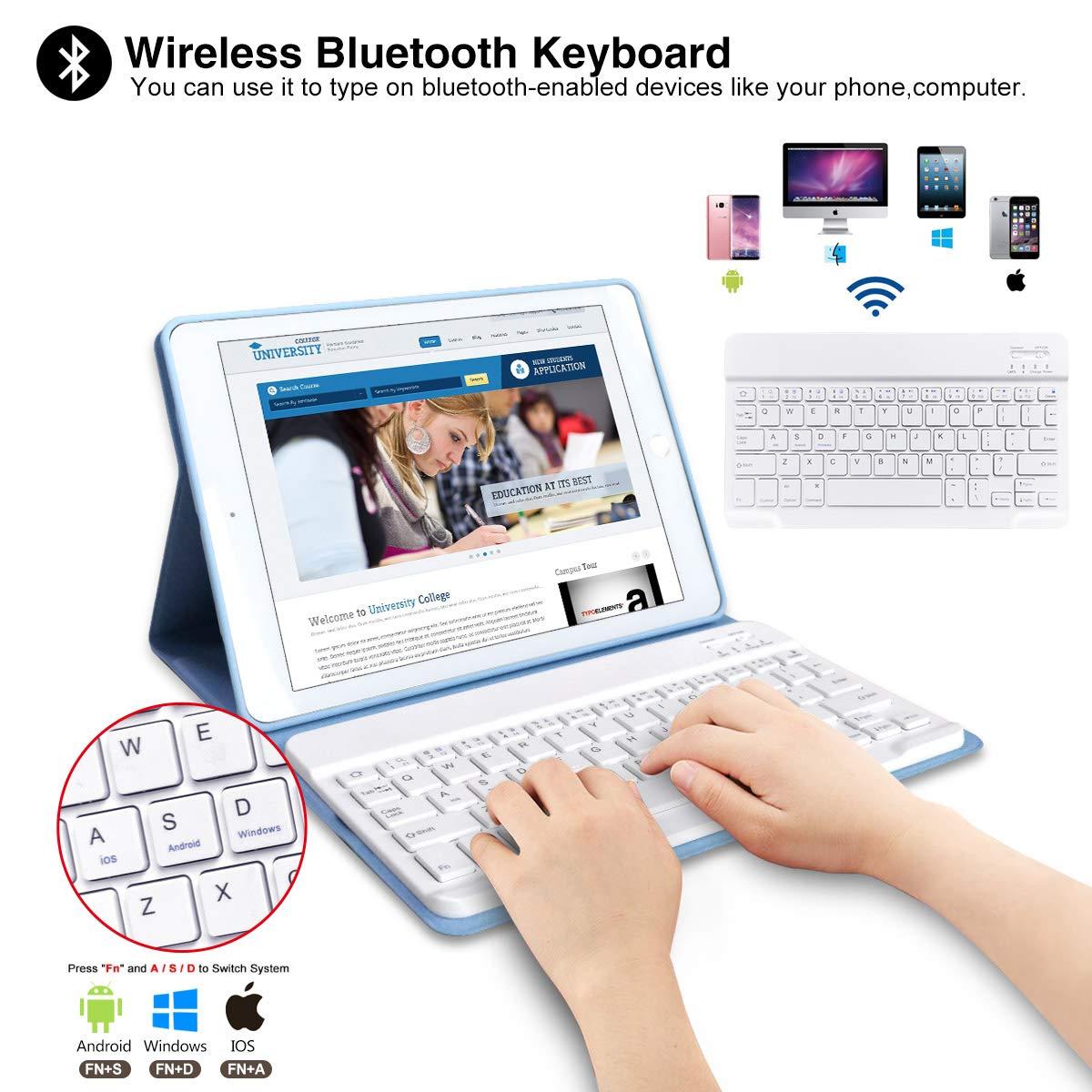 Amazon.com: iPad Keyboard Case 9.7 for iPad New 2018 6th Gen ...
