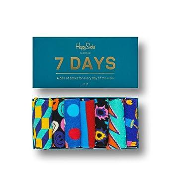 5fe85a08583c Happy Socks 7 Day Gift Box (7 pairs)  Amazon.co.uk  Clothing
