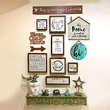 Buy The House Of Memories Foyer Entryway Set Of 12 Home Decorative Wooden Moulding Frames Wall Decor Plaque Home Hallway Entrance Foyer Decor Rustic D Cor Online At Low Prices In India