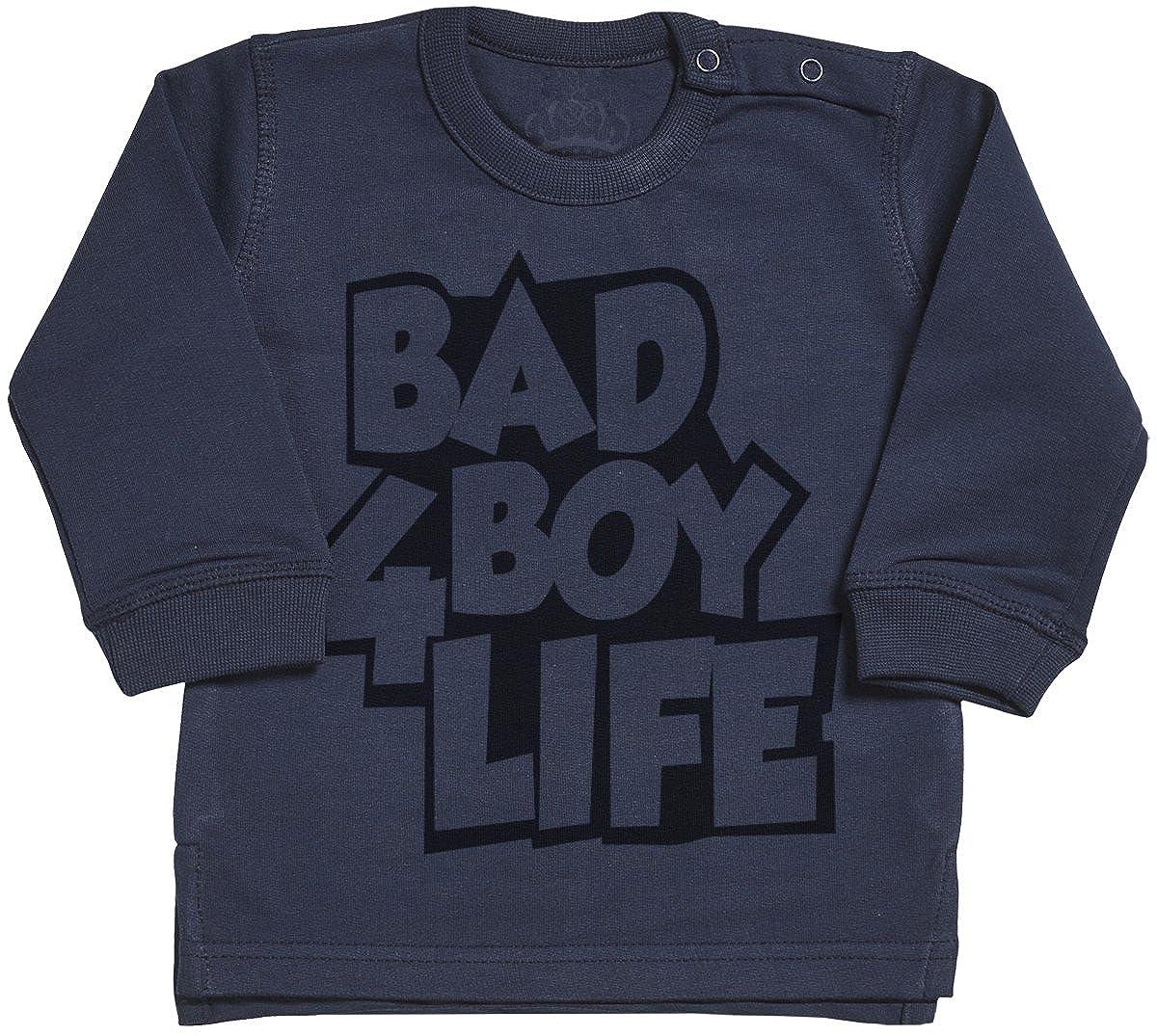 SR Bad Boy 4 Life Baby Sweater Navy Baby Jumper Baby Sweatshirt Baby Girl Sweater Baby Boy Sweater